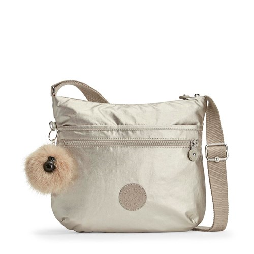 S Arto Crossbody Small Kipling Light Silver twHqn