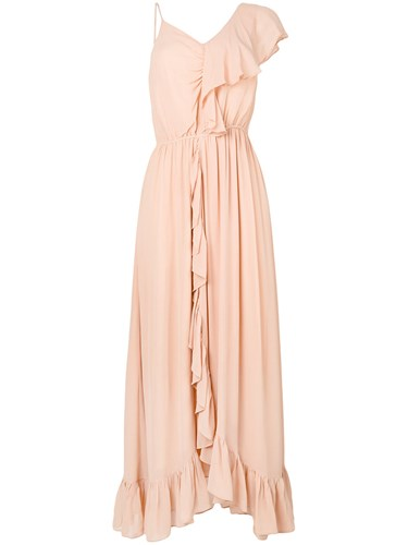 Mes Dress And Neutrals Demoiselles Ruffle Nude Asymmetric TqCTOwr
