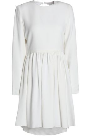 Dress Open Beckham Mini Back Victoria White Cady Pleated xHBqYxz5w