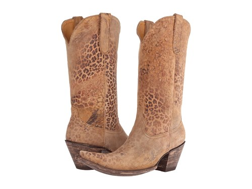 Old Gringo Leopardito 13 Ocre Goat Cowboy Boots Brown L3Wgn