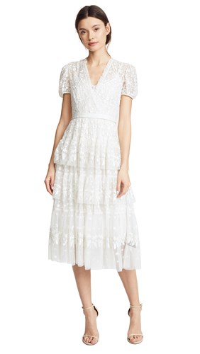 Needle & Thread Layered Lace Gown Ivory eM5vOzW7b