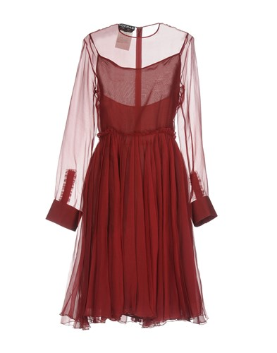 Rochas Knee Length Dresses Maroon nVzBpT6NB
