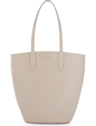 Alexander McQueen Small Leather Tote Nude uoFjD