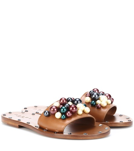 Marni Leather Embellished Slides Leather Multicoloured Embellished Embellished Multicoloured Slides Marni Marni IqtIgwE