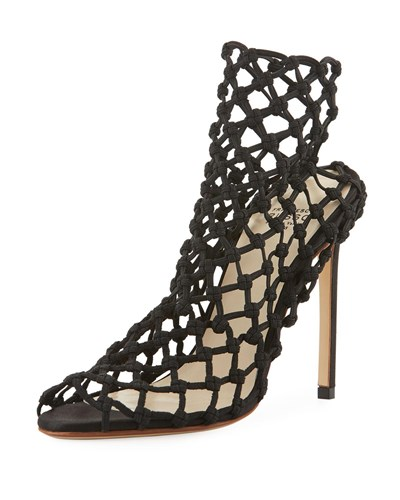 Francesco Russo Stretch Caged 105Mm Bootie Black ThKHgE