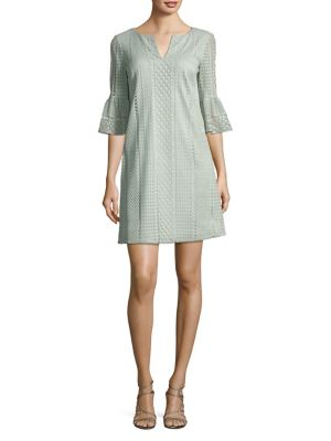 Adrianna Papell Vintage Striped Lace Shift Dress Sage 2Tyym2LH0V