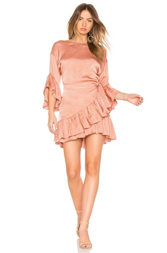 Desert Horizon Wrap Dress Rose