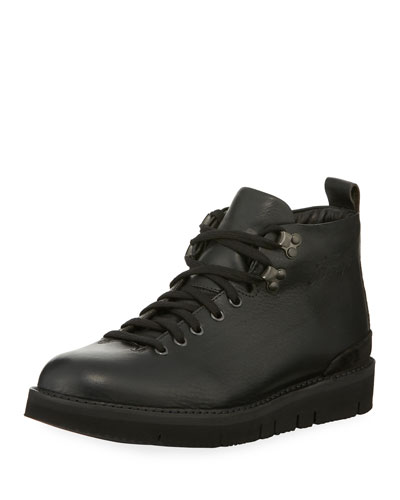 Fracap Fur Lined Leather Boot Black 9stluwO