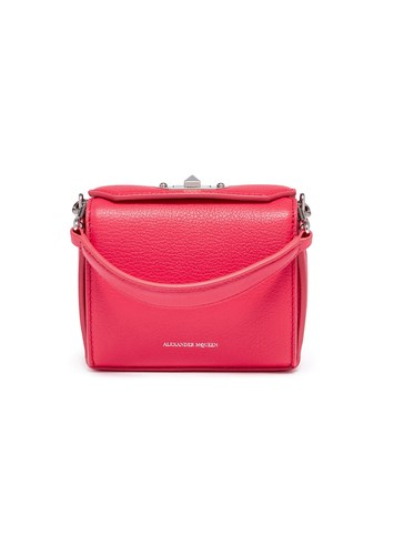 Alexander McQueen 'Nano Box Bag' In Grainy Calfskin Leather Pink MMbZfPEyqh