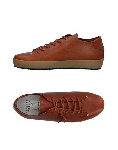Leather Crown Sneakers Tan k1IOMMZ