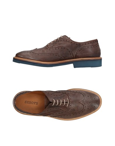 SEBOY'S Lace Up Shoes Cocoa iqMyrBwe