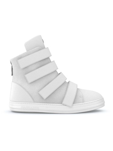 Swear Bond Sneakers Calf Leather Rubber Nappa Leather Suede White MTISHx