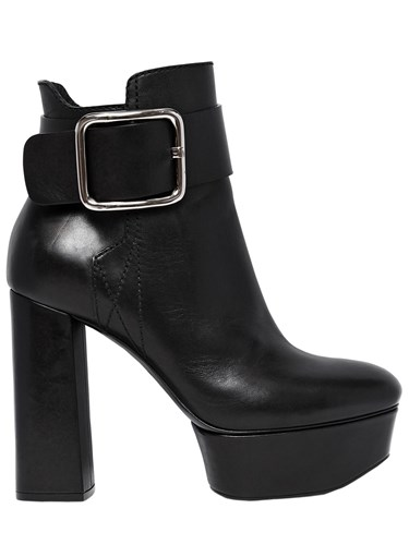 Casadei 120Mm Elena Perminova Leather Boots Ahrpf
