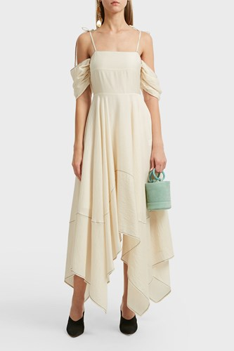 Rejina Pyo Audrey Off The Shoulder Dress Ivory JrrP1RBh