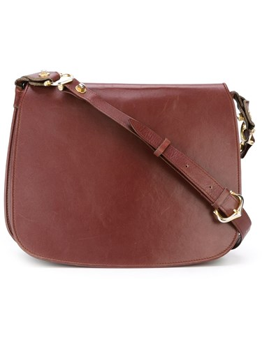 Cartier Vintage Cross Body Bag Red Bba6P