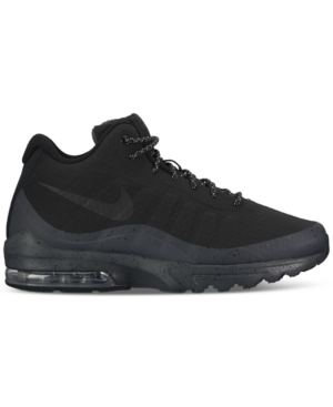 Nike Men's Air Max Invigor Mid Running Sneakers From Finish Line Black Black Anthracite eGmBabG