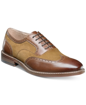 Stacy Adams Men's Ansley Wingtip Oxfords Men's Shoes Brown Multi YQfGX