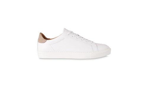 Whistles Low Top Leather Trainers White brvFL7XjLT