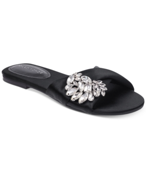 Marc Fisher Gallery Flat Sandals Women's Shoes Black CsSjb9dLC