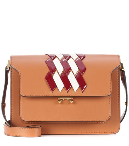 Marni Trunk Leather Shoulder Bag Brown iJuEje