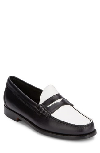 G.H. Bass And Co. 'Larson Weejuns' Penny Loafer Black White nQwkBdrUyD