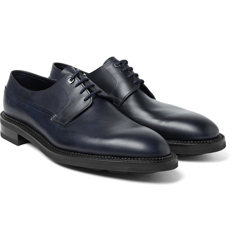 Croft Panelled Leather Oxford Shoes Midnight Blue