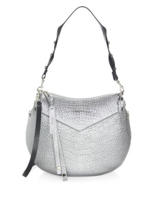 Jimmy Choo Artie Grained Leather Shoulder Bag Platinum WPkmaY