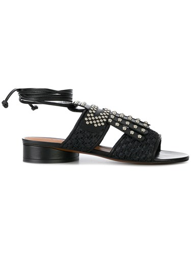 4yw5x6qrf Robert Clergerie Sandals Fringed Black dhQrts