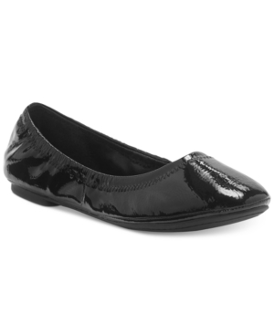 Lucky Brand Emmie Ballet Flats Women's Shoes Black Patent m4LUC7Zy