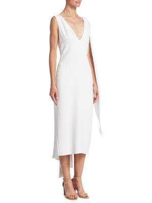 Cushnie Pencil Leta Ochs et White Dress Drape awHraxnqI