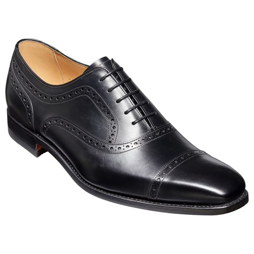 Barker Barkers Luke Leather Goodyear Welted Brogues Black b0uSbQK3