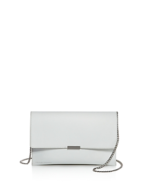 Loeffler Randall Leather Envelope Clutch 100 Exclusive White Silver 2AKW2Tc