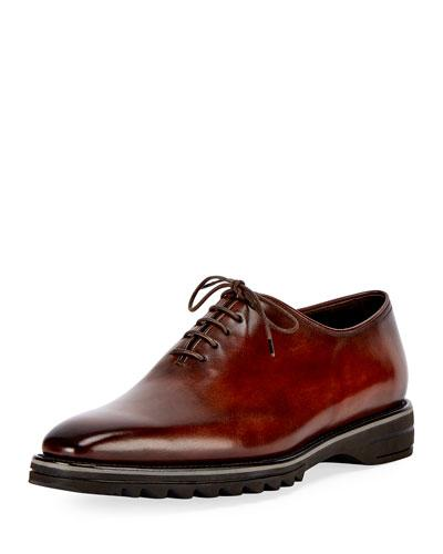 Alessandro Spada Leather Lace Up Shoe Brown