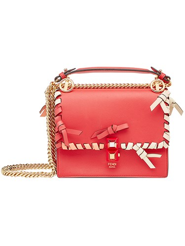 Fendi Kan I Small Shoulder Bag Red A7CxAis