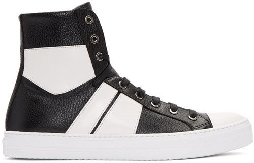 Amiri Black And White Sunset High Top Sneakers B9A7iUhMX
