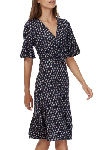 Brora Liberty Jersey Wrap Dress Navy Bird sd4txHF