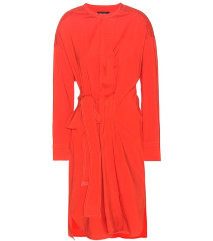 Red Wrap Silk Dress Dias Blend Style And Marant Isabel Wool T7YORWwzxq