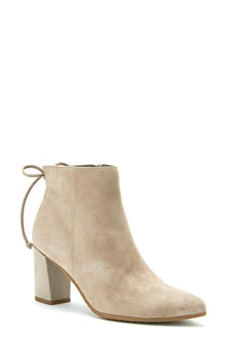 Blondo Women's Tiana Waterproof Pointy Toe Bootie Taupe Suede YlGOQVbSOH