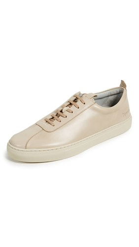 Grenson Low Top Leather Sneakers Natural 6EOoXF