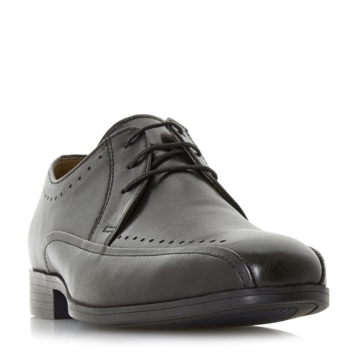 Howick Popery Punched Tramline Lace Up Shoes Black 3nUOfh0r