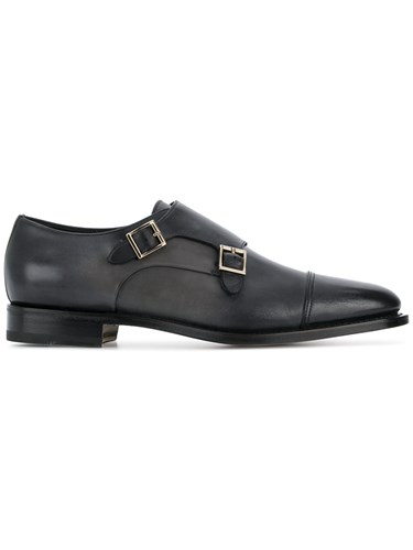 Santoni Classic Monk Shoes Black liZJVDymr