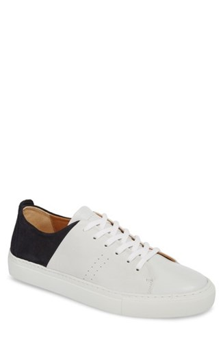 SUPPLY LAB Maddox Low Top Sneaker White Navy Suede j6y2Pss6