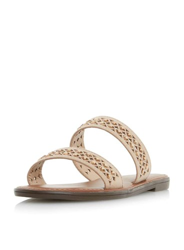 Dorothy Perkins Head Over Heels By Dune Taupe 'Luminosa' Flat Sandals pv2YWeTB
