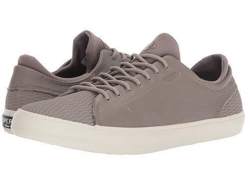 Sperry Flex Deck Ltt Leather Grey Lace Up Casual Shoes Gray sLne6t4