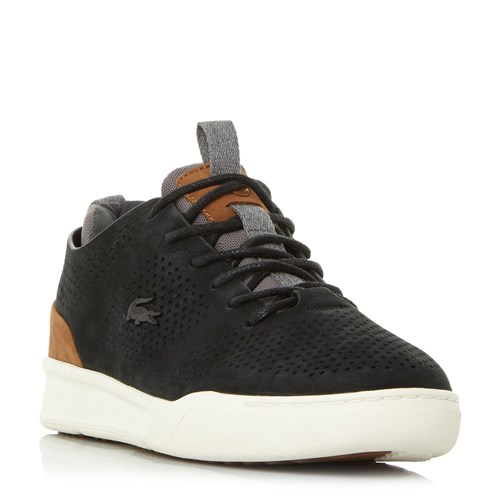 Lacoste Explorateur Perforated Nubuck Trainers Black DIfm1jU1