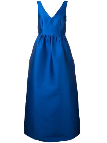 P.A.R.O.S.H. Picabia Dress Women Silk Polyester S Blue qT9sU7