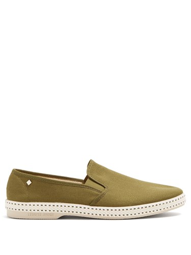 Rivieras Classic 10 Canvas Loafers Khaki aICmovCI