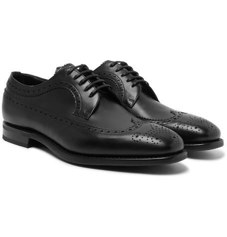 Church's Portmore Leather Longwing Brogues Black OBWFezQymb
