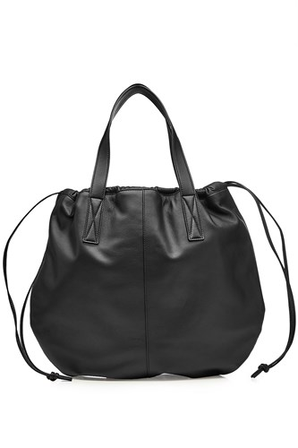 Victoria Beckham Helmet Leather Tote Black 7HjvXx