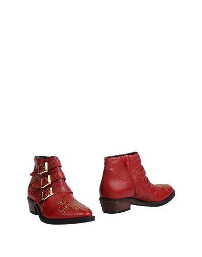 GARRICE Ankle Boots Red NDxdFxD7yB